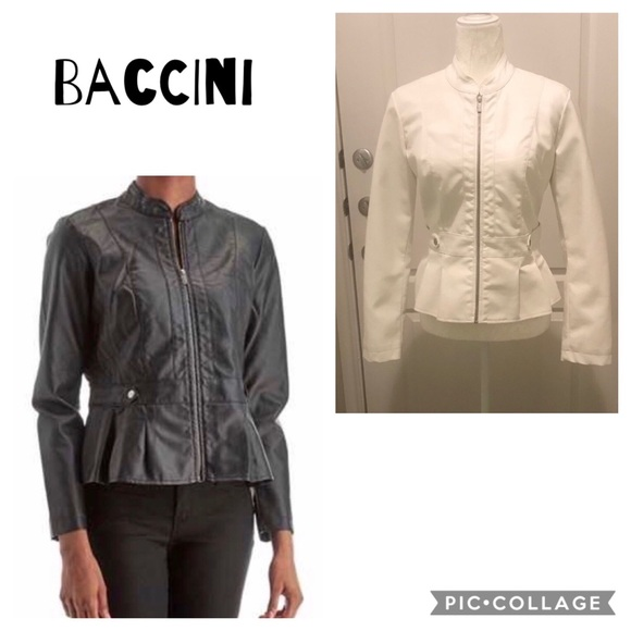 6713c15f6 Baccini Jackets & Coats | Faux Leather Peplum Jacket | Poshmark